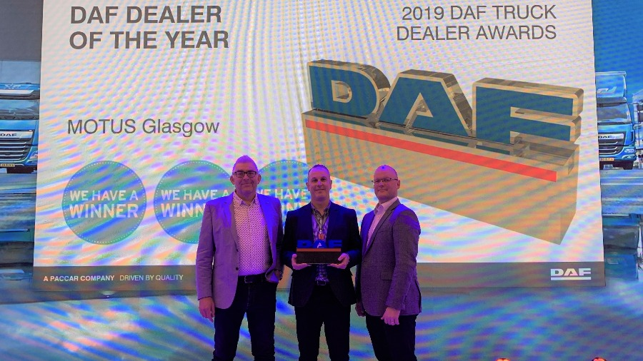 Record Points for MOTUS Commercials Glasgow in UK DAF Dealer of the Year Win