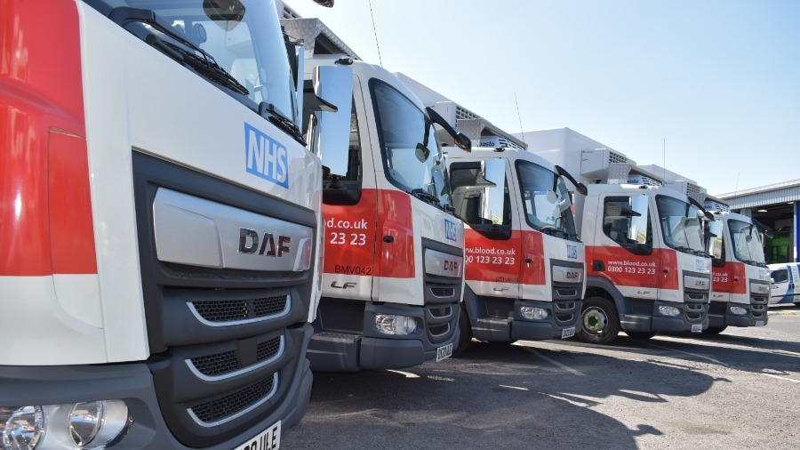 MOTUS Commercials DAF delivers LF rigids for NHS blood plasma trials