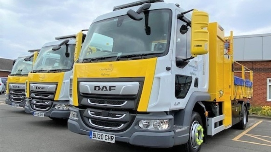 Ringway Jacobs Adds 3 DAF LF Tippers to its Cheshire East Council Contract