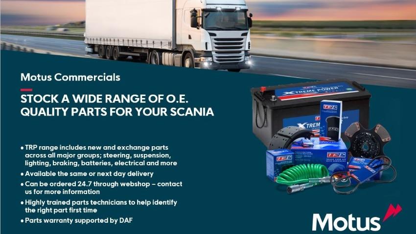 O.E Quality Scania Parts