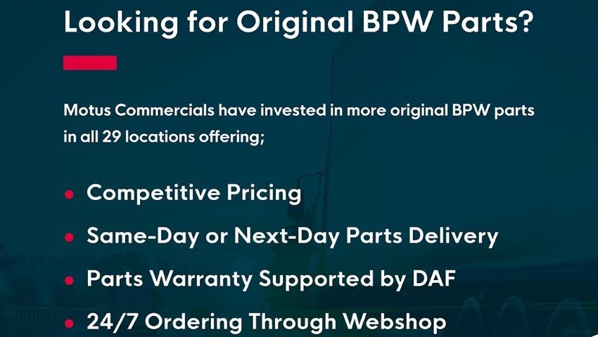 Original BPW Parts