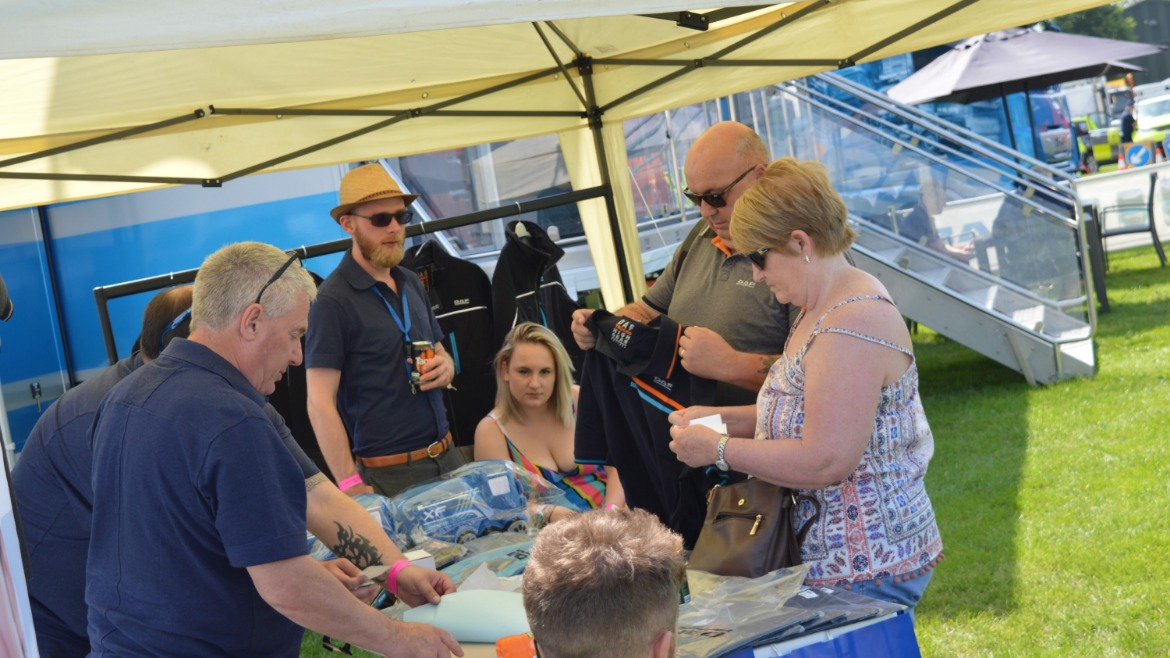 DAF merchandise stand at Truckfest West Midlands & Wales 2019