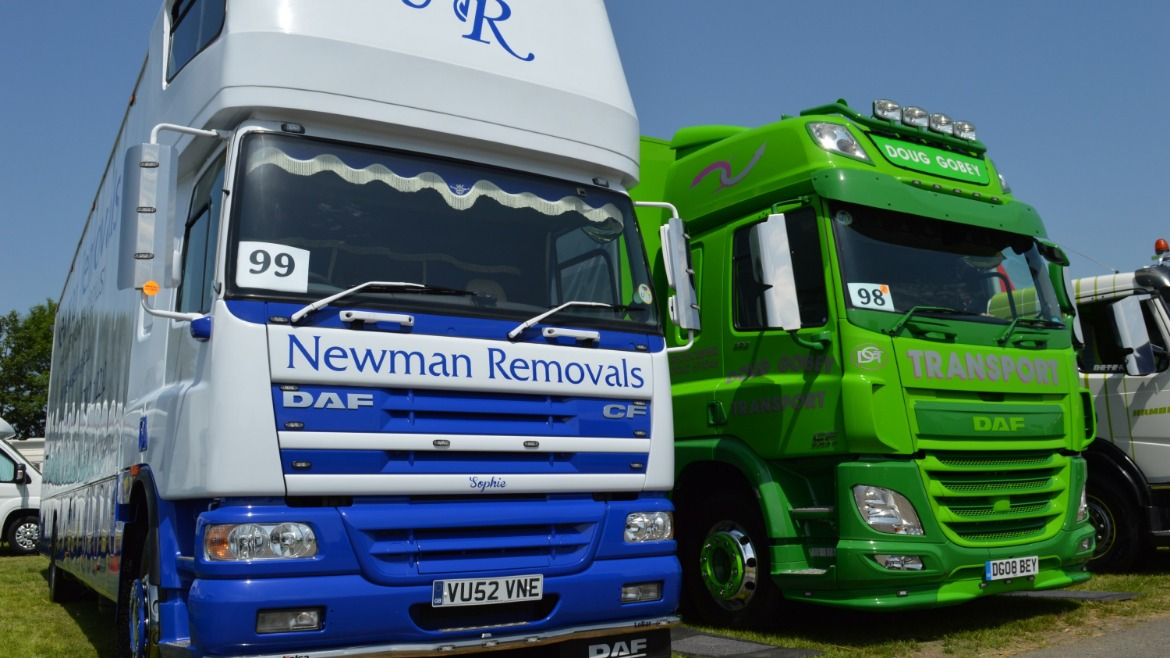 Newman Removals & Doug Gobey Transport DAF CF Trucks