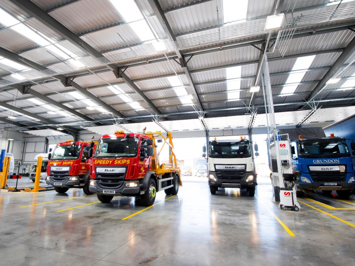 Workshop at new Motus Commercials Gloucester site at Spinnaker Road