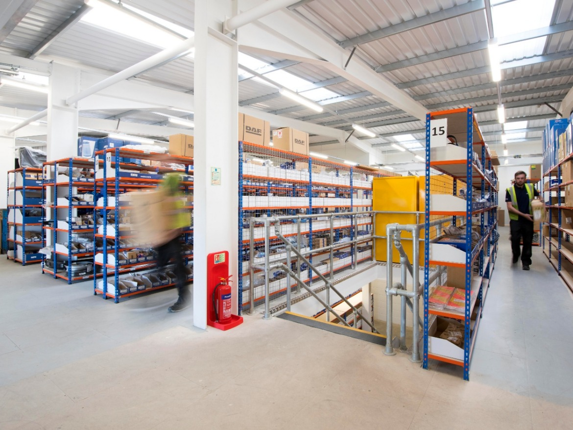 Parts department at Motus Commercials, Spinnaker Road Gloucester