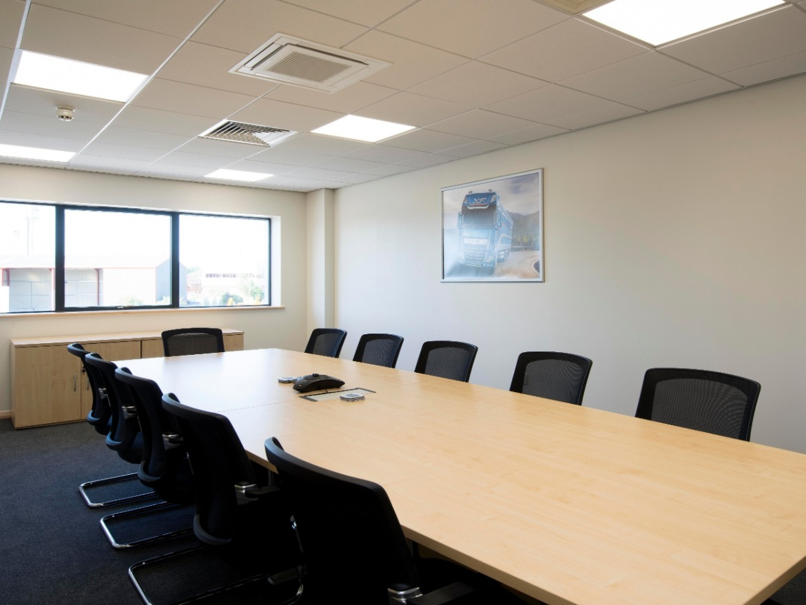Meeting room at Motus Commercials Spinnaker Road Gloucester