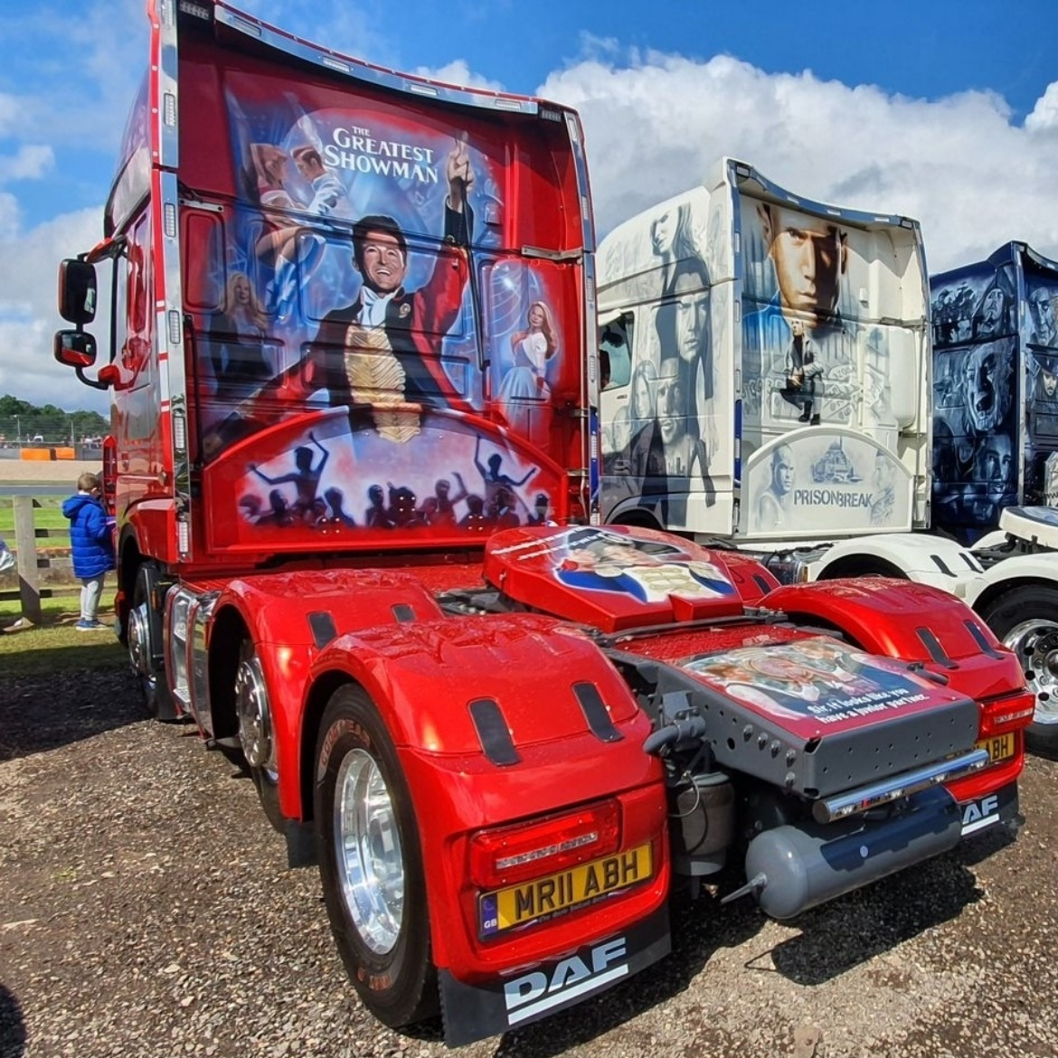 The Greatest Showman Themed 90th Anniversary DAF XF Truck